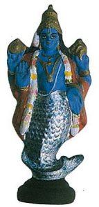 魚(マツヤ)の化身像