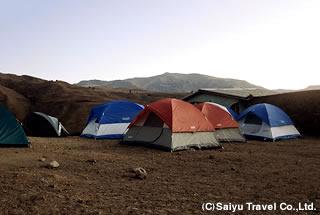 チロレバのキャンプ地