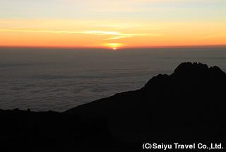 ステラポイントから眺める朝陽