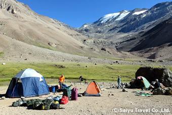緑豊かなキャンプ地