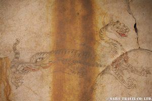 国宝に指定の壁画・白虎